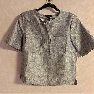 Silver H&M Structured Top   M